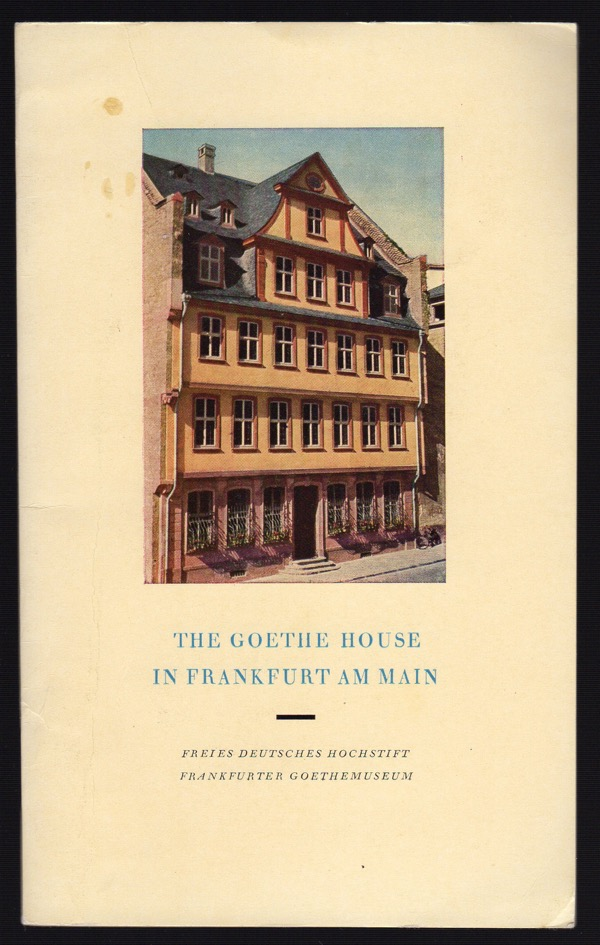 Image for THE GOETHE HOUSE IN FRANKFURT AM MAIN