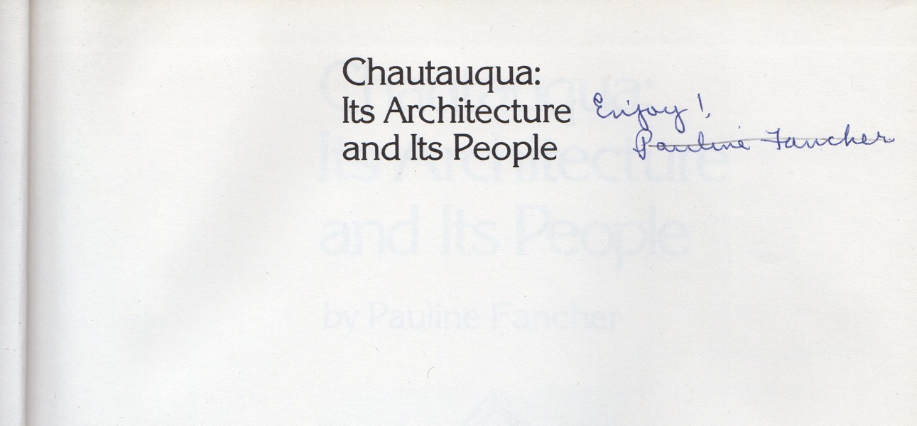 Image for CHAUTAUQUA: ITS ARCHITECTURE & ITS PEOPLE