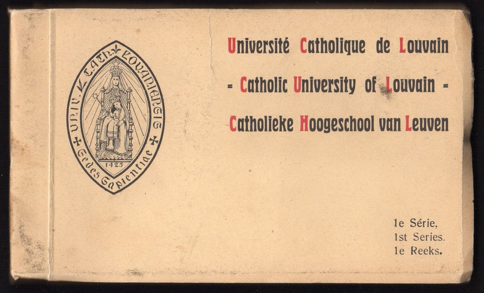 Image for CATHOLIC UNIVERSITY OF LOUVAIN