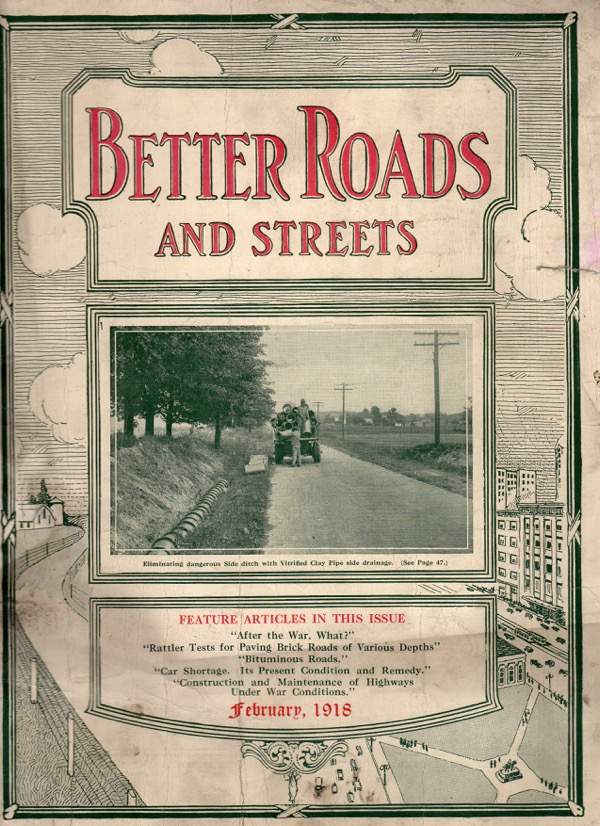 Image for BETTER ROADS AND STREETS, FEBRUARY 1918, VOL. VIII, NO 2