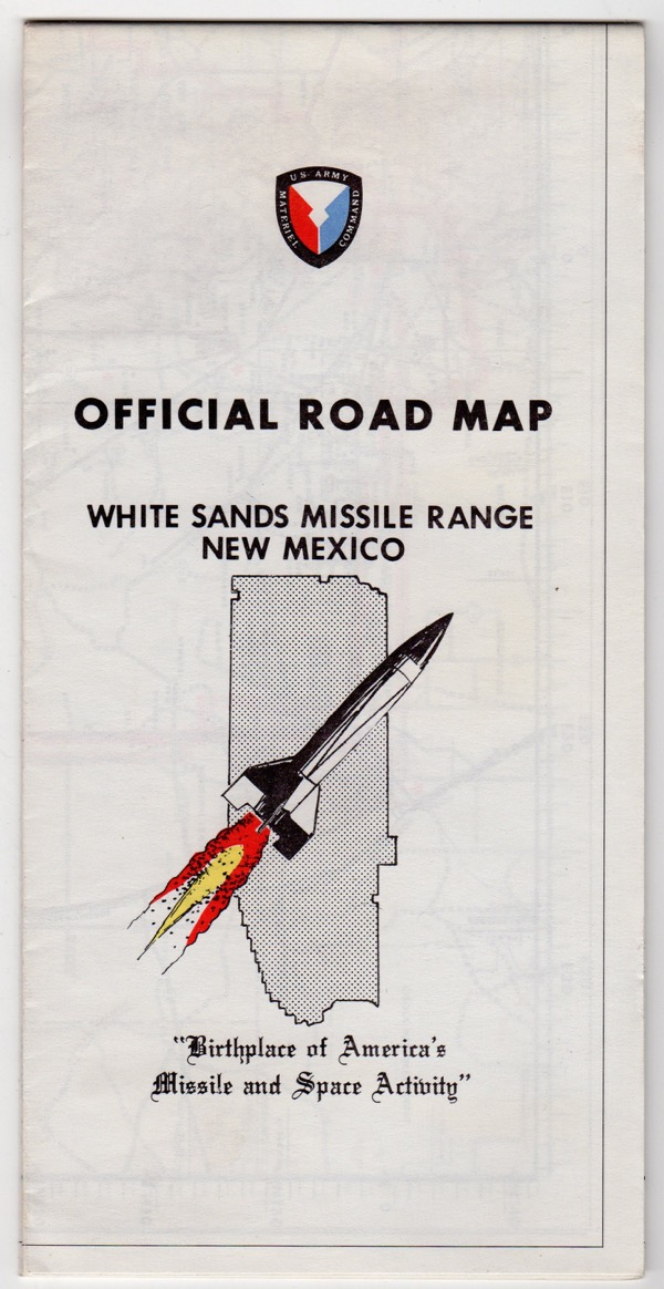 Image for OFFICIAL ROAD MAP: WHITE SANDS MISSILE RANGE, NEW MEXICO