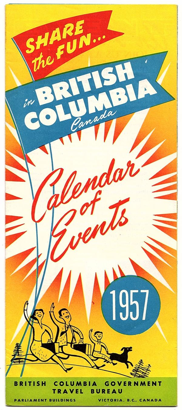Image for SHARE THE FUN...IN BRITISH COLUMBIA CANADA: CALENDAR OF EVENTS, 1957