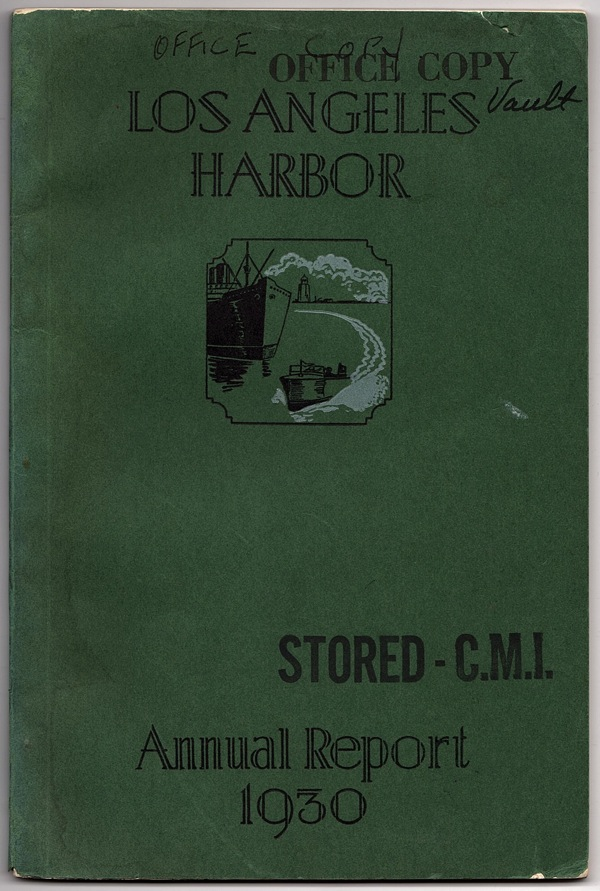 Image for ANNUAL REPORT OF THE BOARD OF HARBOR COMMISSIONERS OF THE CITY OF LOS ANGELES, CALIFORNIA U.S.A.