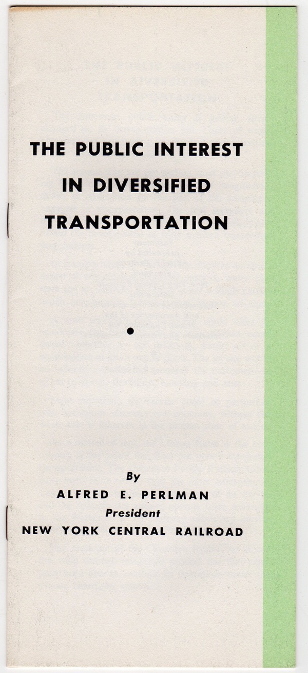 Image for THE PUBLIC INTEREST IN DIVERSIFIED TRANSPORTATION