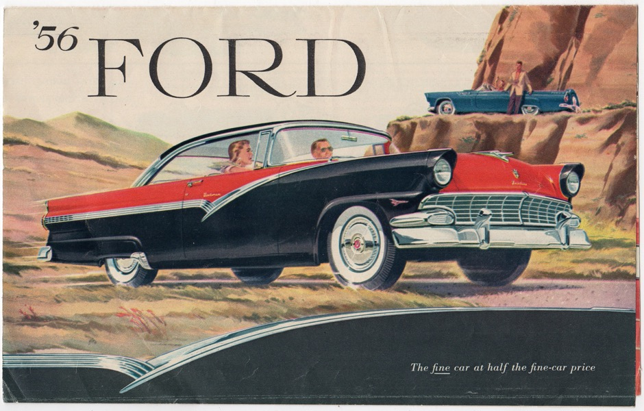 Image for '56 FORD: THE FINE CAR AT HALF THE FINE-CAR PRICE